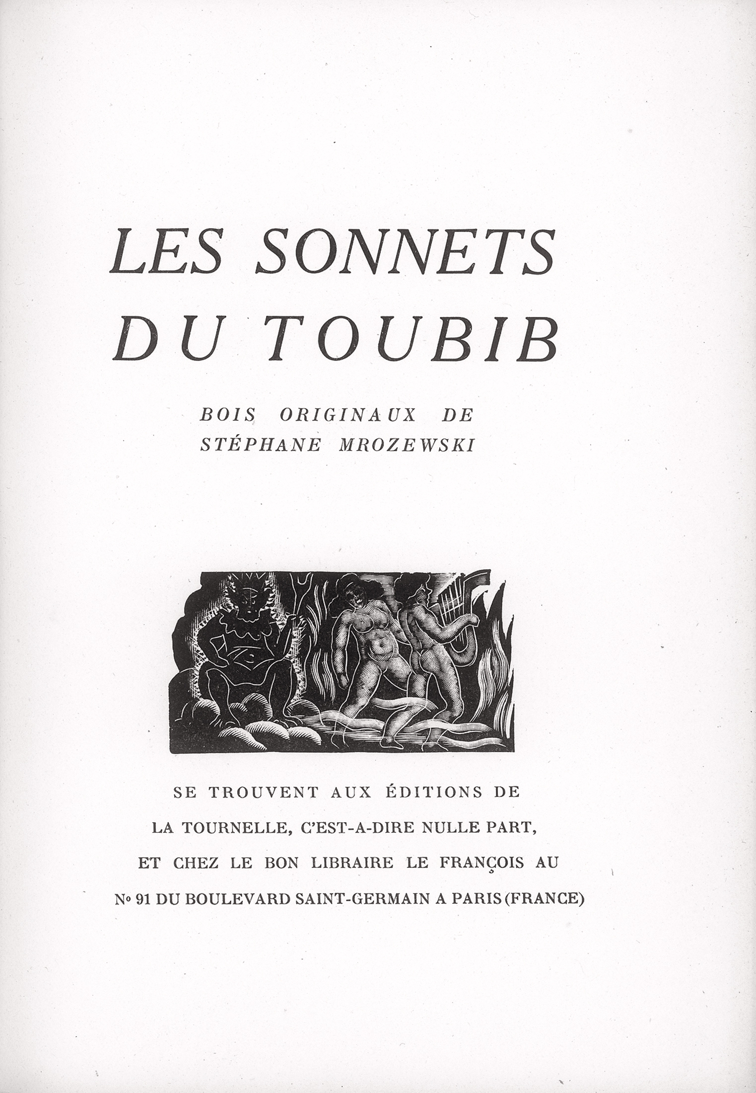 Les sonnets du Toubib. Bois originaux de Stephane Mrozewski, 1946