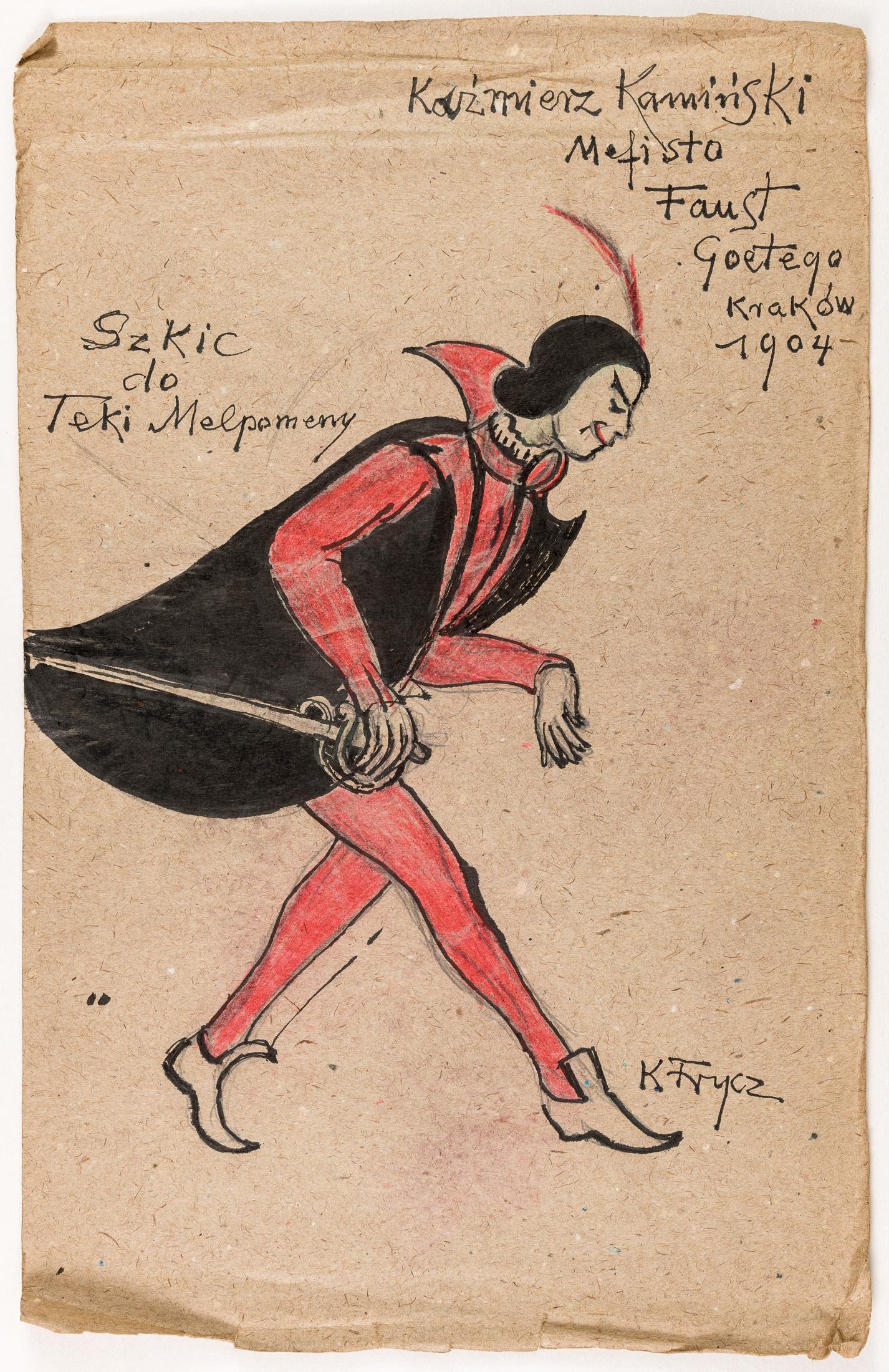 """Kazimierz Kamiński jako Mefisto w sztuce Goethego """"Faust"""", 1904"""