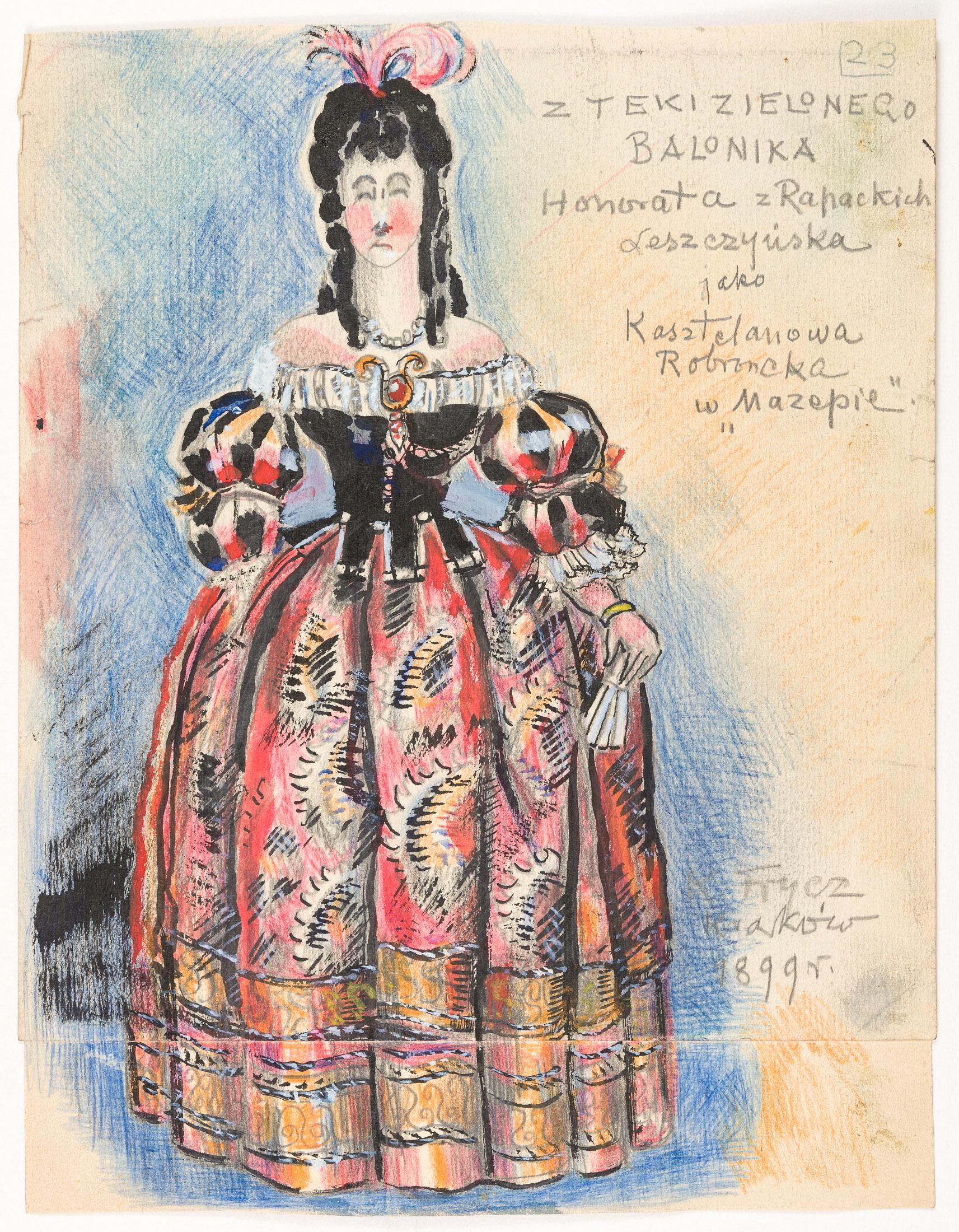 """Honorata Leszczyńska w sztuce """"Mazepa"""" J. Słowackiego, 1899"""