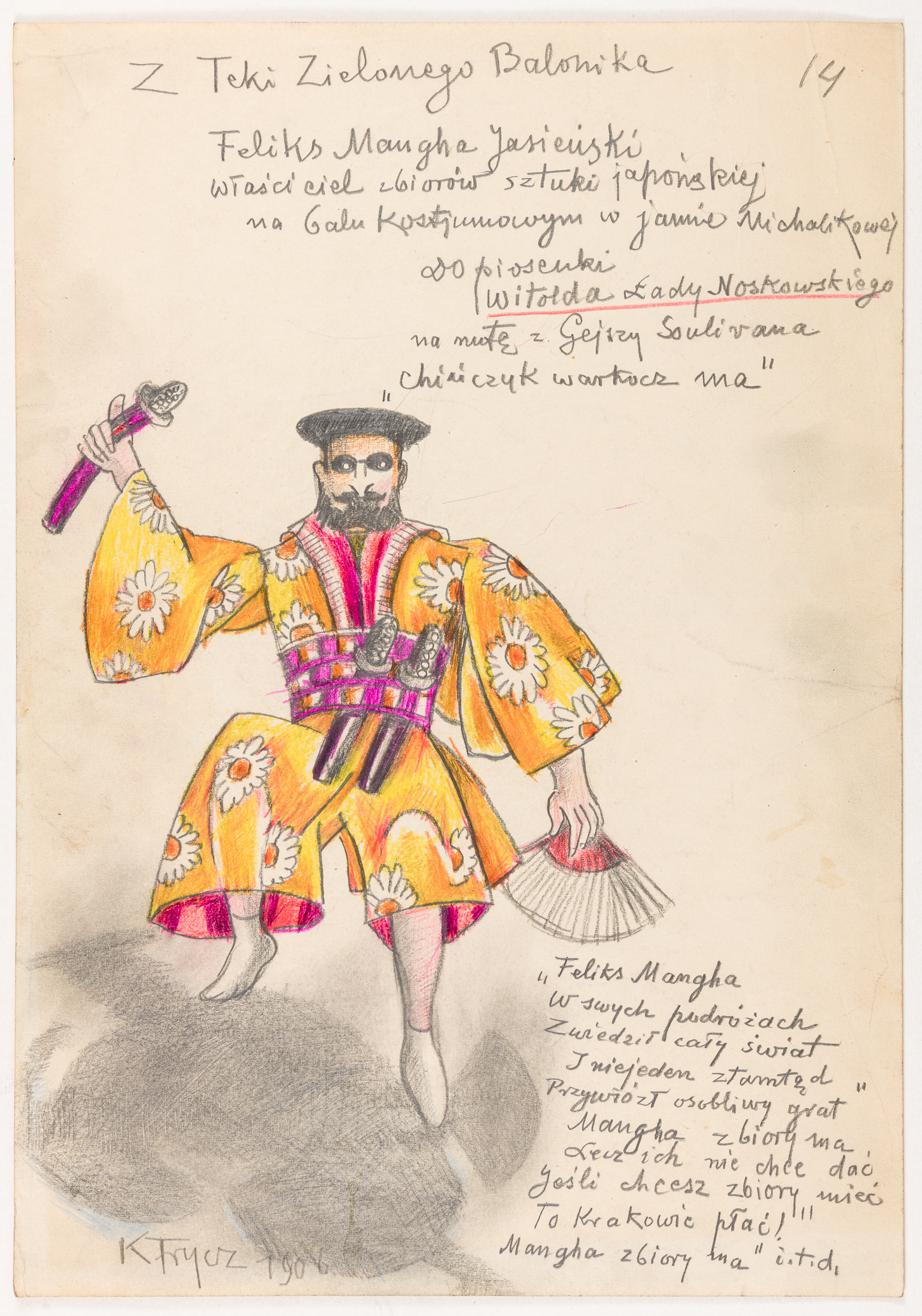 Feliks Manggha Jasieński, 1906