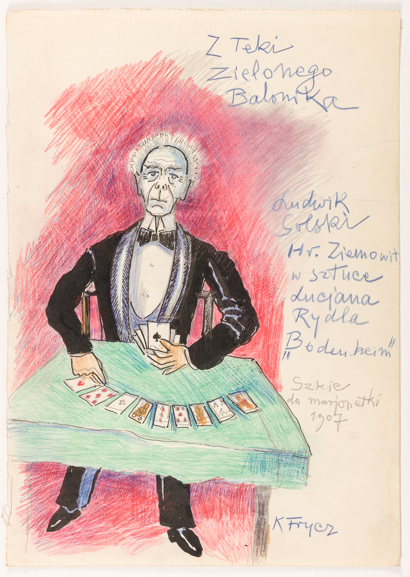 """Ludwik Solski, jako hr. Ziemowit w sztuce Lucjana Rydla """"Bodenheim"""", 1907"""