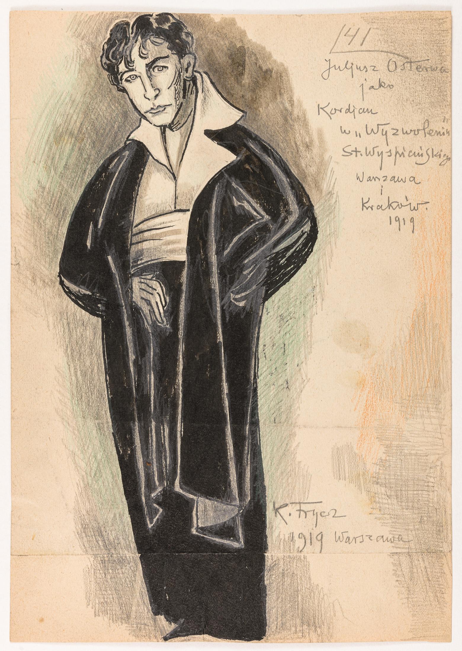 """Juliusz Osterwa jako Kordian z """"Wyzwolenie"""" Stanisława Wyspiańskiego, 1919"""