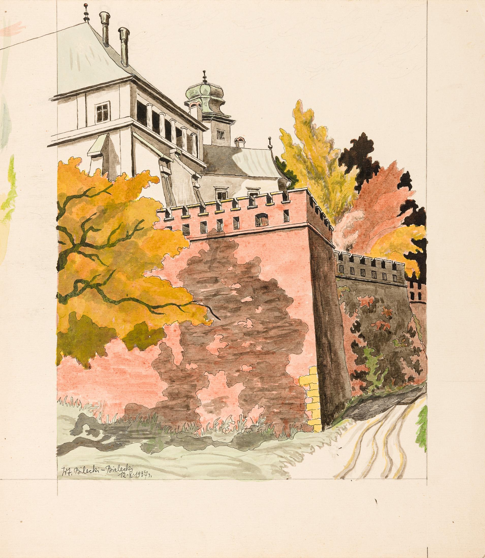 Mury Wawelu. Pawilon gotycki, 1937