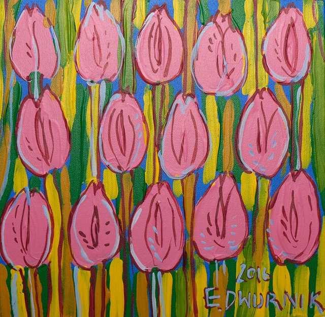 Różowe tulipany, 2016