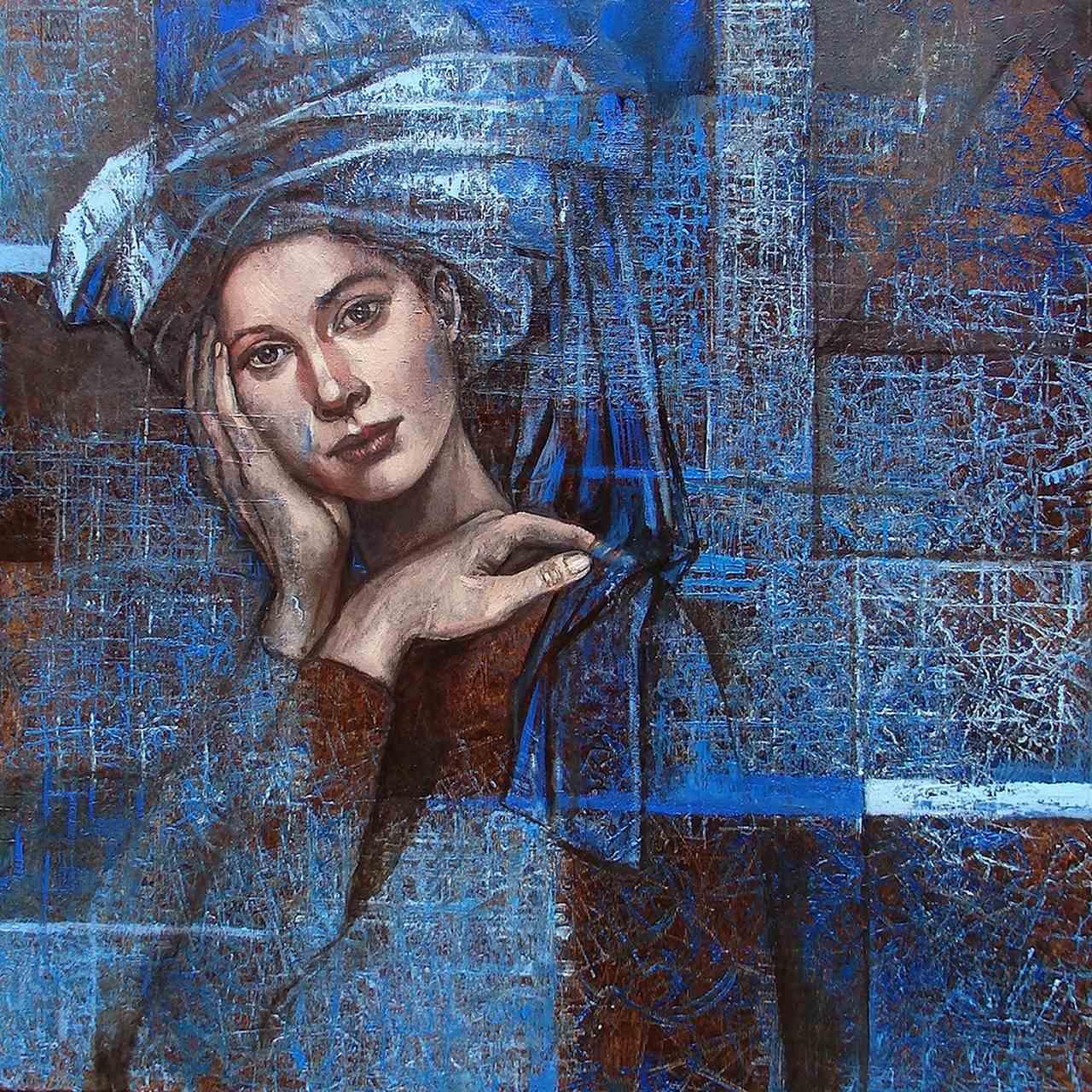 Niebieski turban ii, 2020