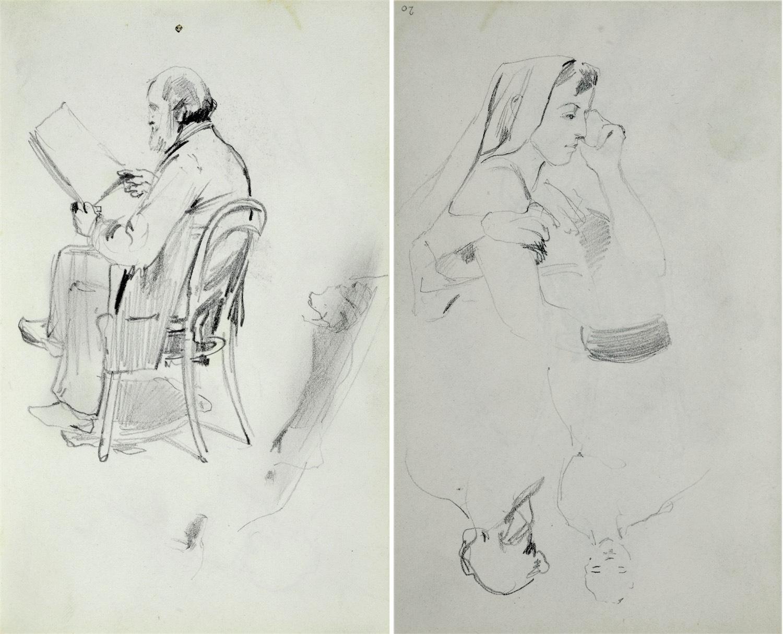 Stary mężczyzna z brodą siedzący na krześle i czytający