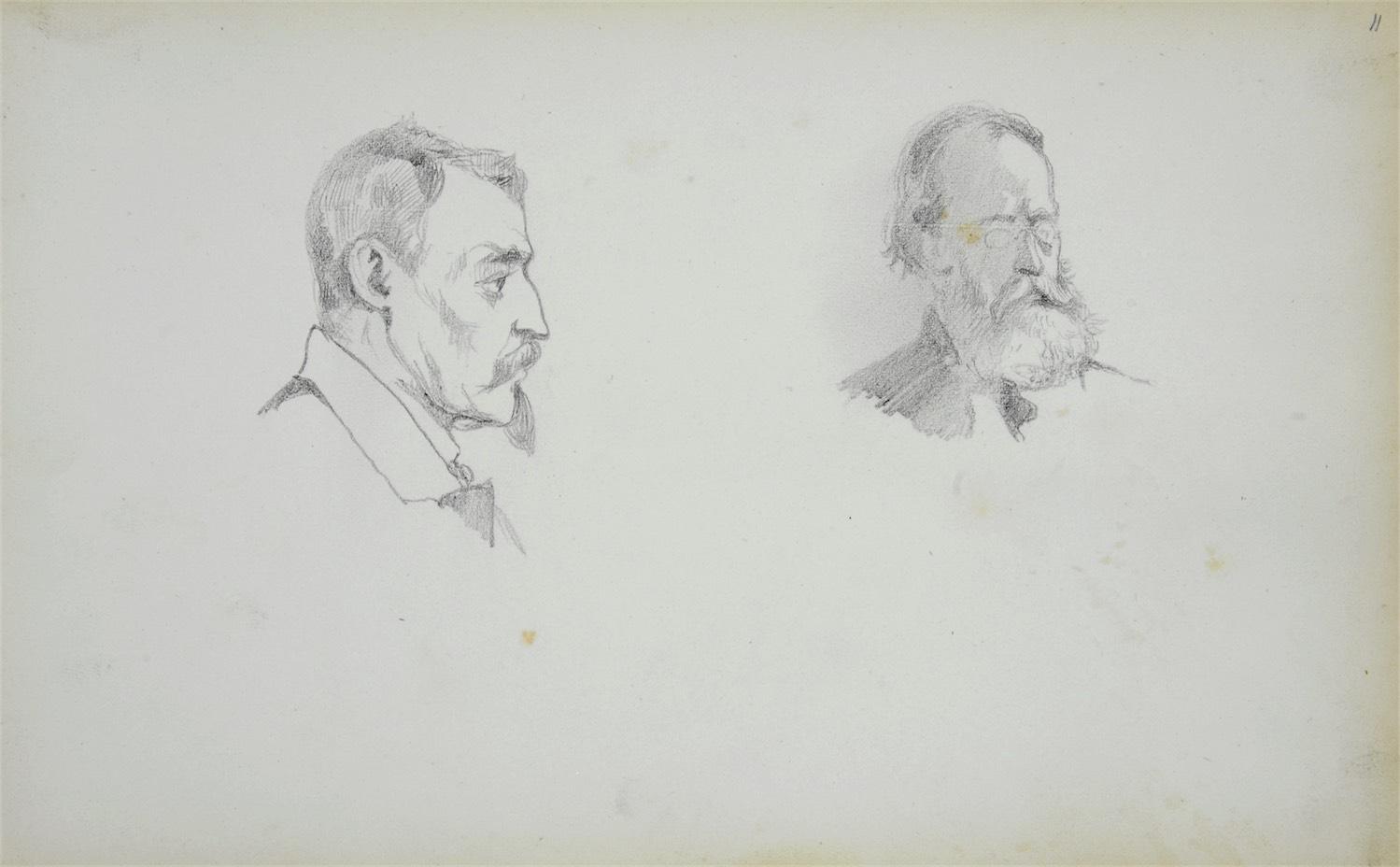 Studia portretowe dwóch mężczyzn