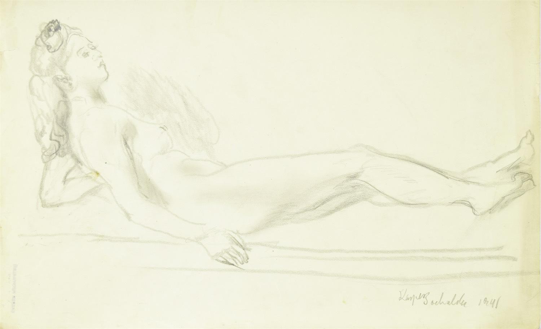 Akt leżącej kobiety, 1941