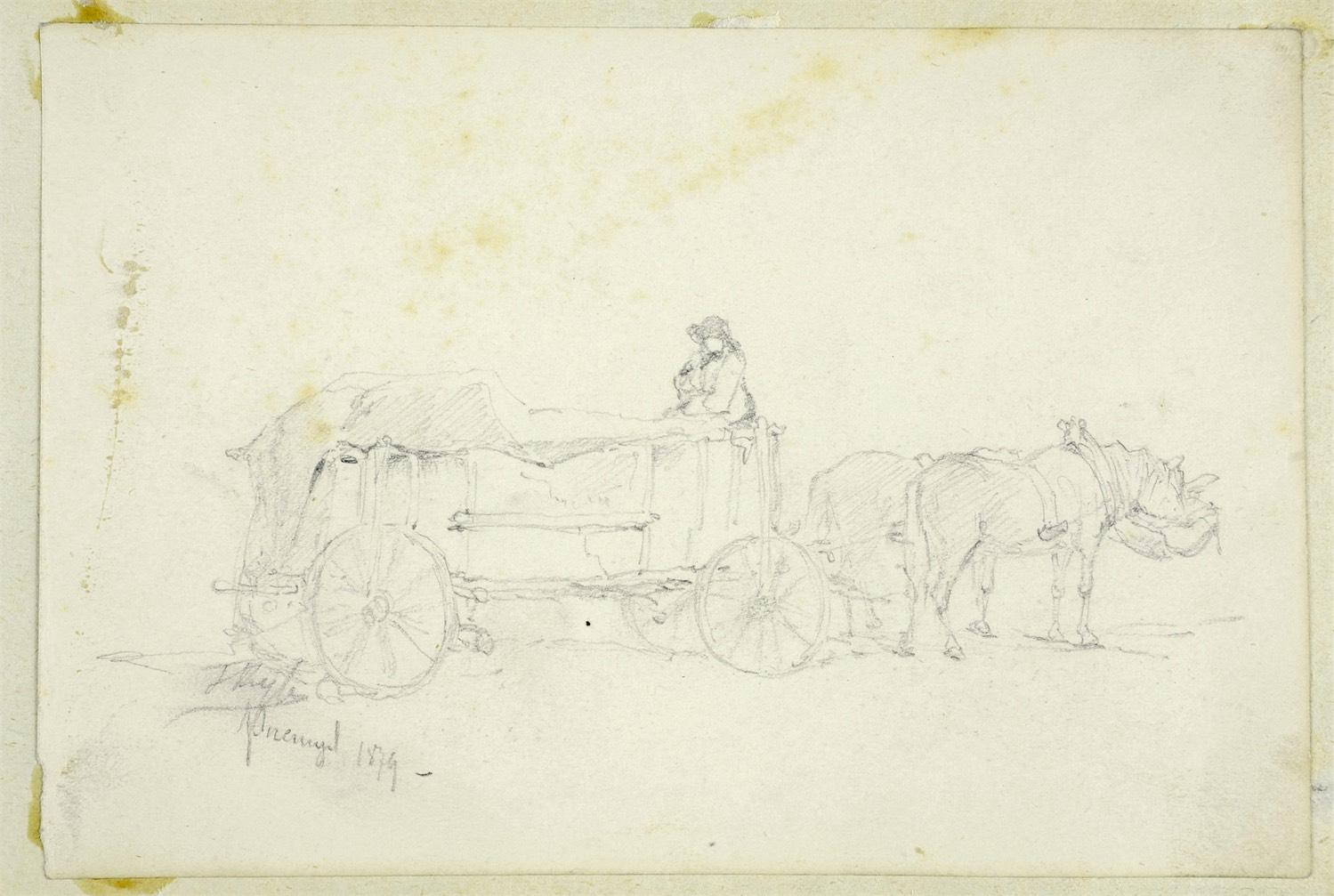 Wóz z końmi, 1874