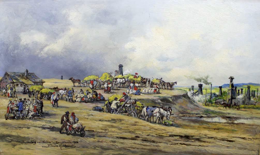 """Targ na """"Górce"""" w Borysławiu, 1908"""