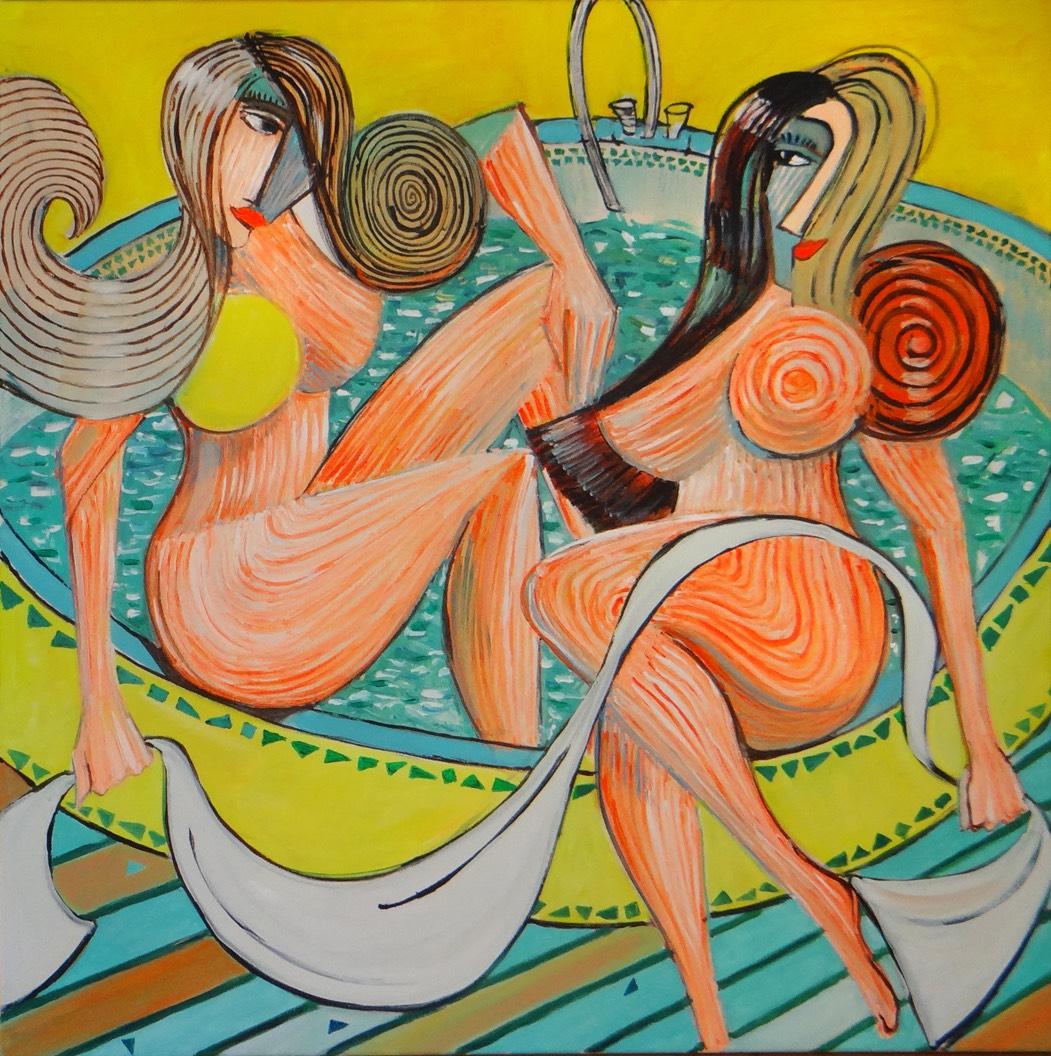 Siostry w kąpieli przed wizytą u Lota, 2020