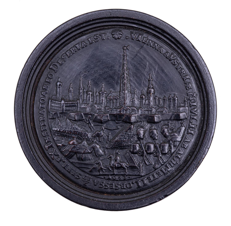 Kamień warcabowy 'Odsiecz wiedeńska 1683', 2 poł. XIX w.