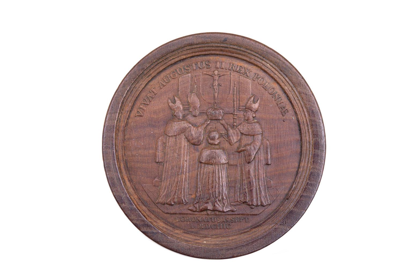 Kamień warcabowy 'Popiersie króla Jana III', 2 poł. XIX w.