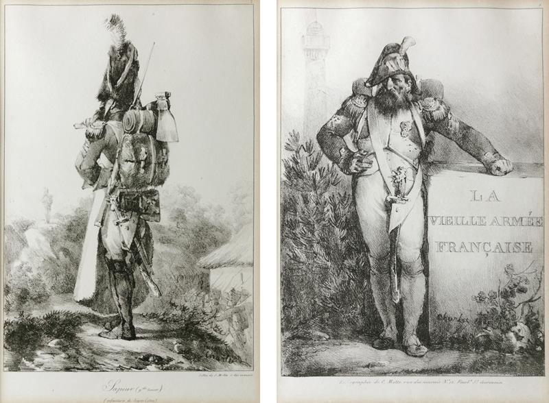 Para litografii z wizerunkami Strażników