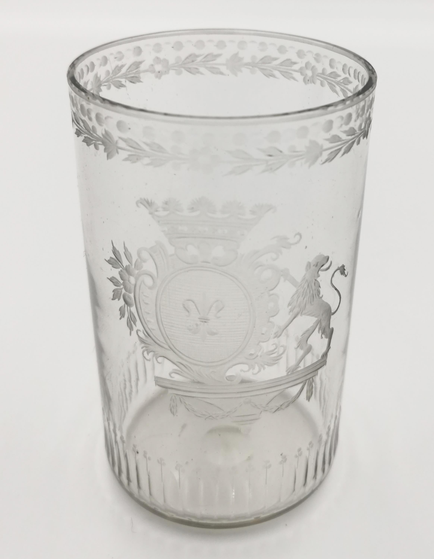 Szklanica z herbem Gozdawa