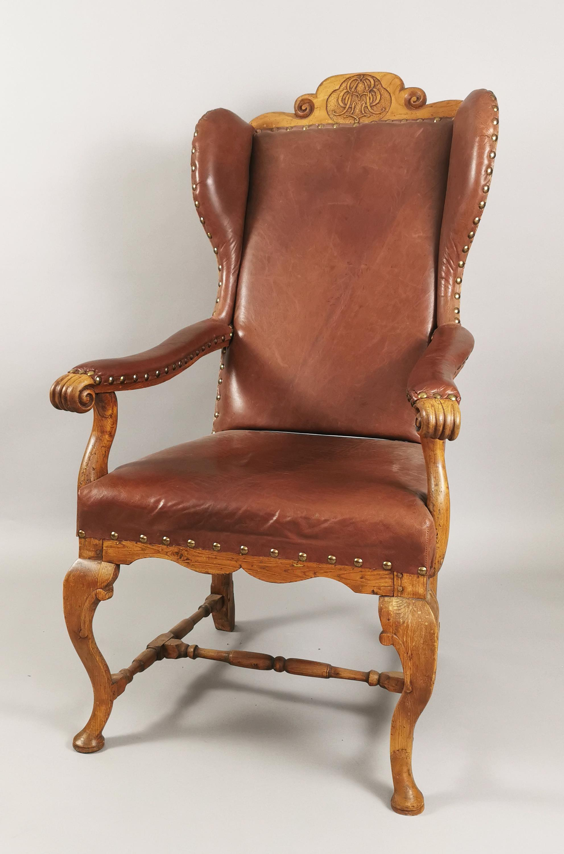 Fotel w stylu późnobarokowym