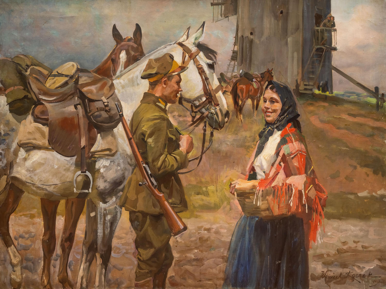 Spotkanie przy młynie, 1927 r.
