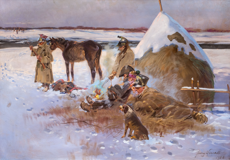 Odpoczynek przy ognisku – epizod z wojen napoleońskich, 1938 r.