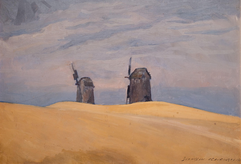 Pejzaż z wiatrakami, 1930 r.