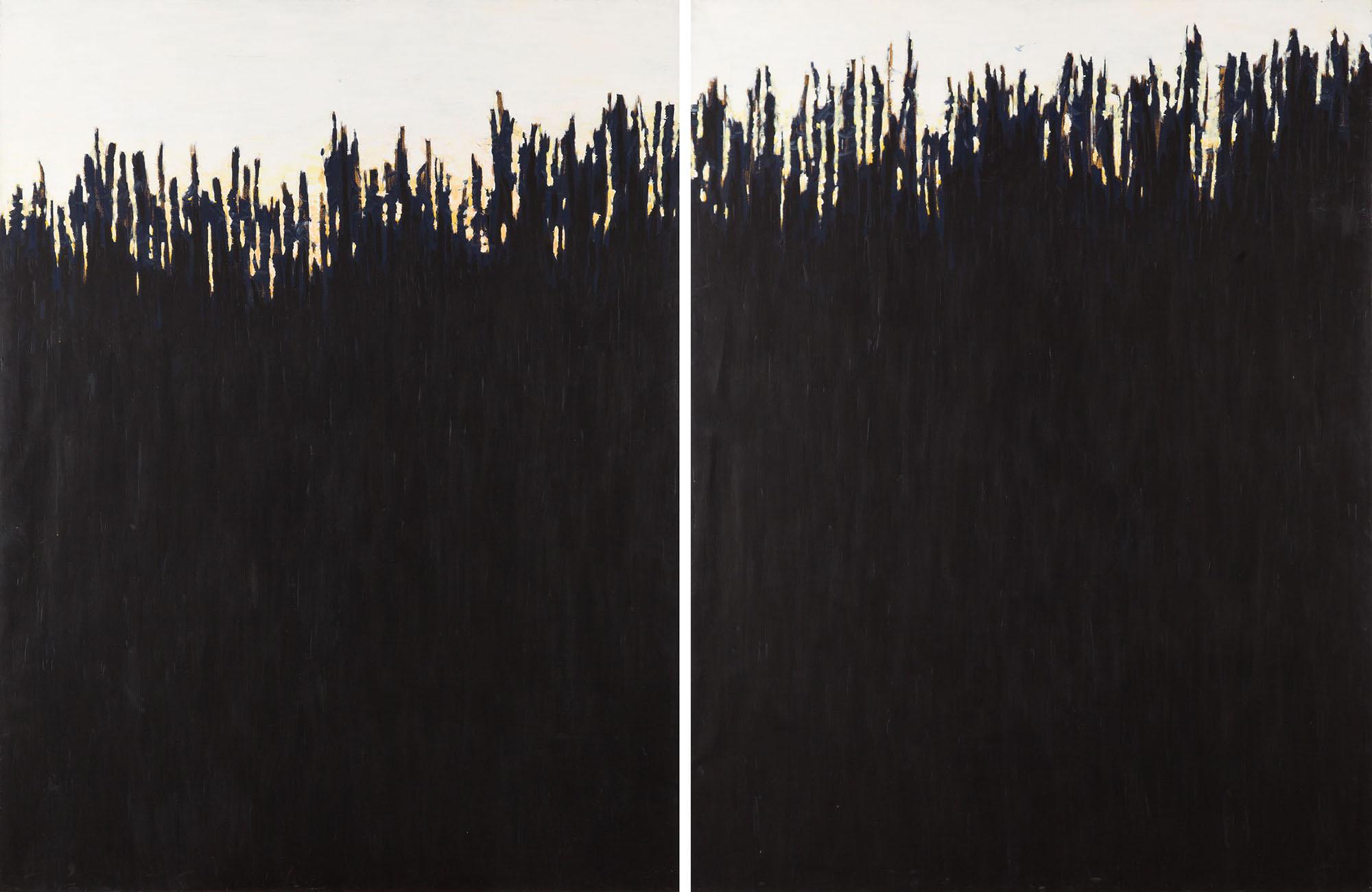 """""""Czarne wzgórze"""" (dyptyk), 1988"""