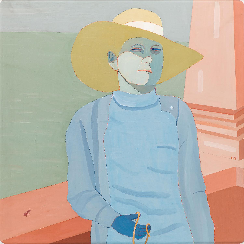 Żółty kapelusz (Autoportret), 1974