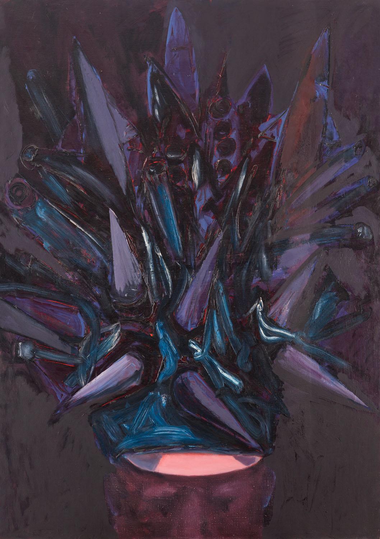 """""""Głowa w pancernej koronie"""", 1985"""