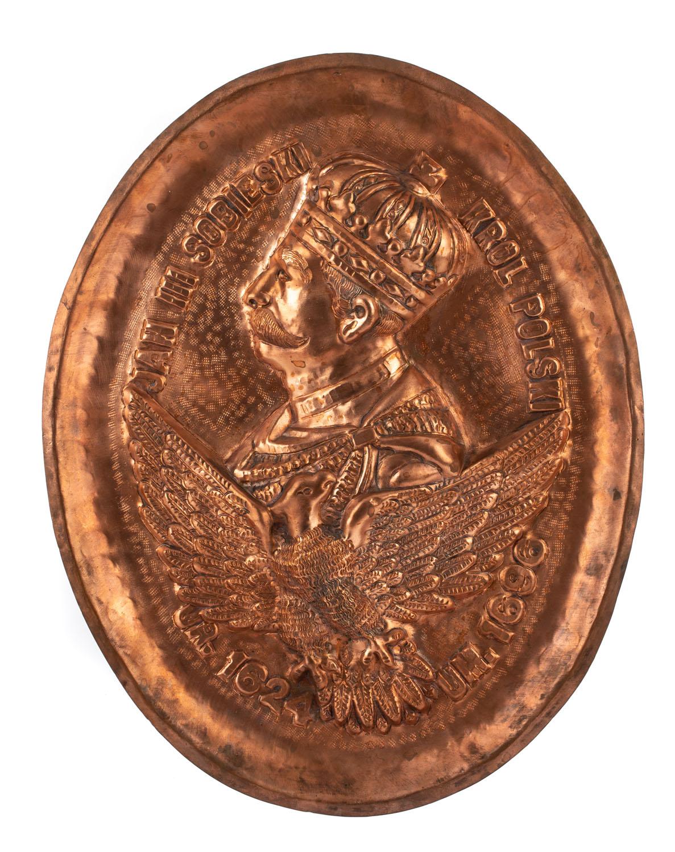 Plakieta z królem Janem III Sobieskim, 2 poł. XIX w.