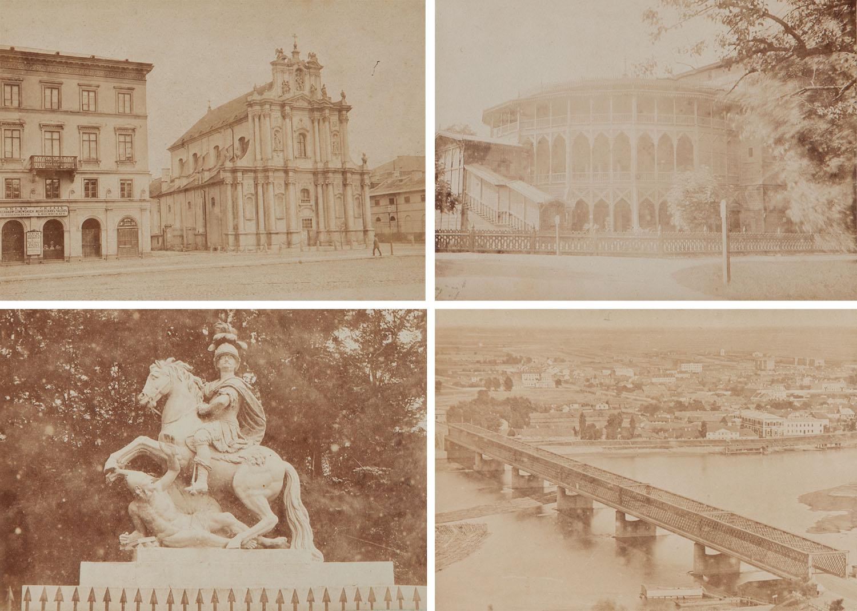 Zestaw czternastu fotografii Warszawy, około1870