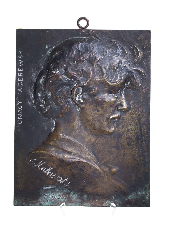 Ignacy Paderewski - plakieta pamiątkowa, 1900