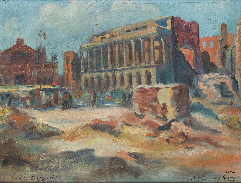 """""""Plac Żelaznej Bramy"""", 1940"""