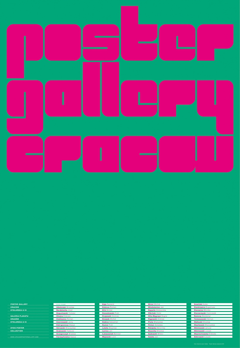 Poster Gallery Cracow, 2007
