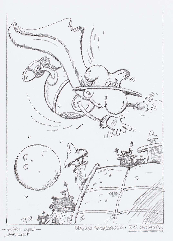 """'Orient Men """"Dachomen""""', rysunek, 2020"""
