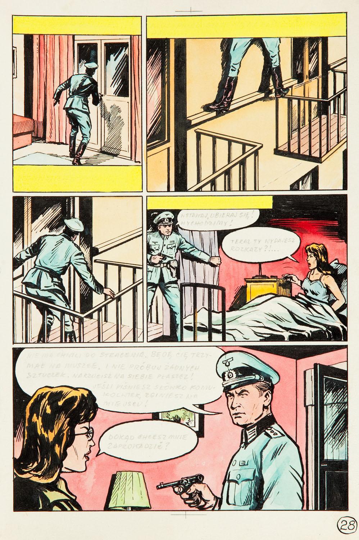 """""""Kapitan Kloss. Podwójny nelson"""", plansza nr 28, 1971-73"""