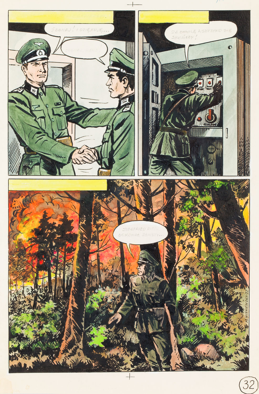 """Kapitan Kloss. Tajemnica profesora Riedla"", plansza nr 32, 1972"