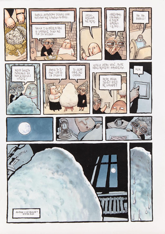"""""""Mikropolis. Moherowe sny"""", """"Lodowy koszmar"""", str.20-21, około2001"""