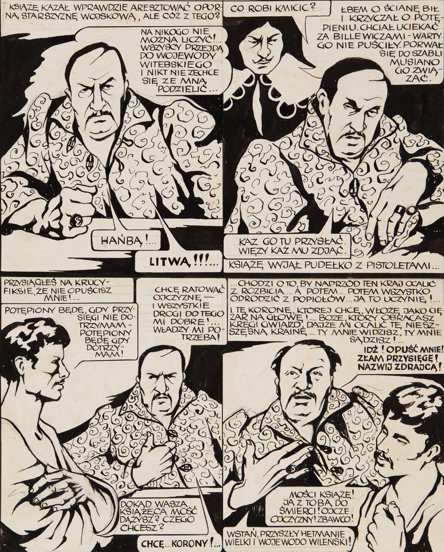 """""""Potop"""", plansza komiksowa, 1974"""