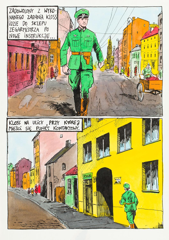 """""""Kapitan Kloss. Pierwsze starcie"""", plansza nr 1/3, 1995"""
