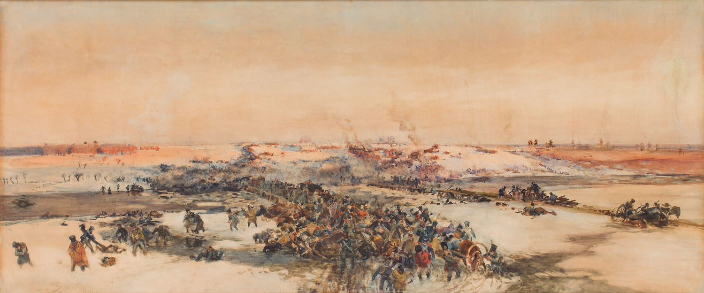 Odwrót wojsk Napoleona nad Berezyną, 1895