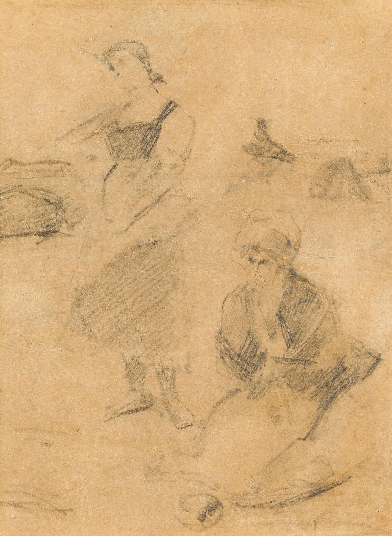 """Szkic do obrazu """"Anioł Pański"""", około 1889"""