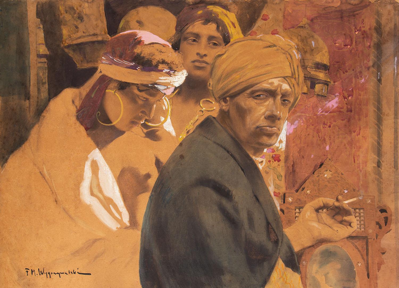 Autoportret z papierosem