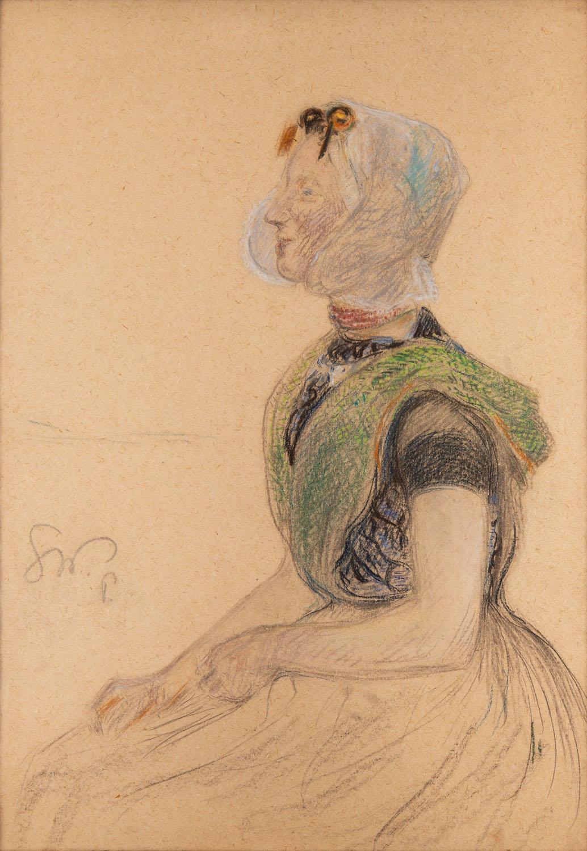 Dziewczyna w czepcu (Paryska mleczarka), około 1893