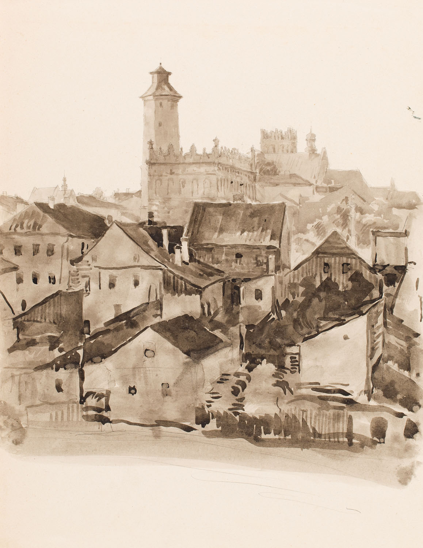 Panorama Sandomierza, 1926