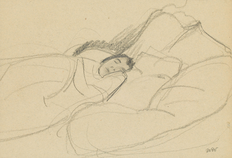 Śpiąca Renia, żona artysty, 1907