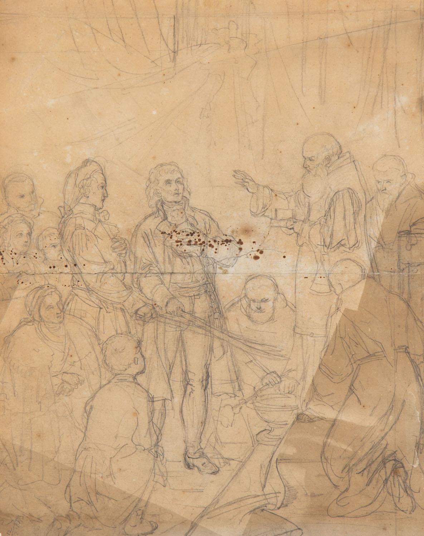 Poświęcenie szabel Tadeusza Kościuszki i Józefa Wodzickiego w Krakowie, 1873