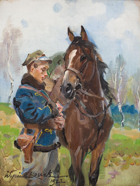 Ułan z koniem, 1922
