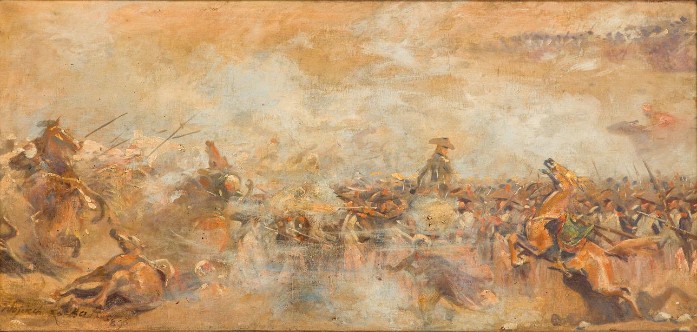 Bitwa pod Piramidami - fragment panoramy, 1900-1901