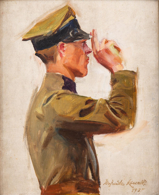 Salutujący artylerzysta, 1937