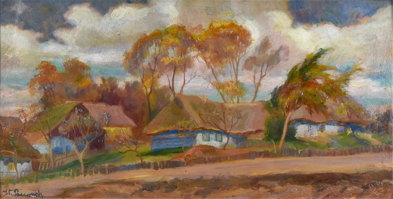 Wieś podkrakowska jesienią, przed 1918