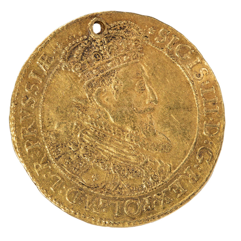 Zygmunt III Waza, donatywa gdańska półtoraczna (1 ½ dukata, półtoradukatowa), 1623 r.