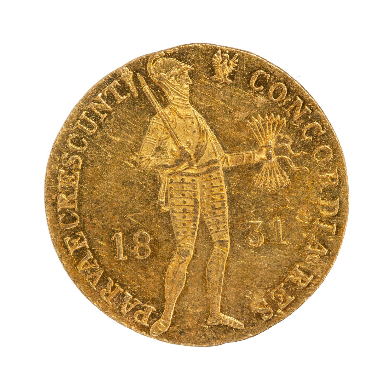 Powstanie Listopadowe, dukat, odmiana z kropką przed pochodnią, 1831 r.